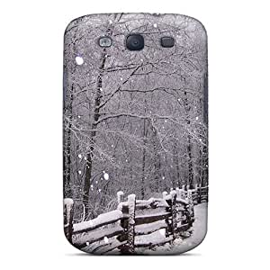 Flexible Tpu Back Case Cover For Galaxy S3 - Winter Snow
