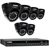 Lorex 8 Channel NR9082 4K Home Security System with 6 Weatherproof 4MP Dome LNE4422B IP Cameras