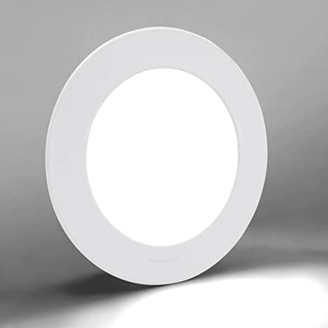 6w Led Round Recessed Ceiling Flat Panel Down Light Ultra Slim Lamp Cool White 7000k Super Bright