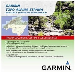 Garmin Topo Alpina España - Mapas para GPS, Cobertura geográfica, Mallorca (Sierra de Tramuntana): Amazon.es: Deportes y aire libre