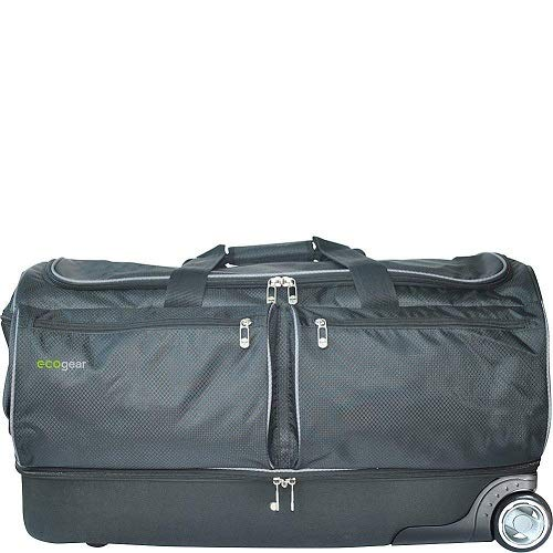 EcoGear 28 Inch Wheeled Duffel with Garment Rack, Black -