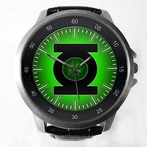 DC+Comics+Watch Products : DC Comic Universe Superhero Green Lantern Custom Metal Sport Watch with Leather Band