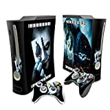 Designer Batman and joker- the dark knight skin sticker for xbox 360. System & Remote Controllers.