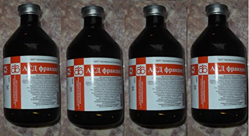 4 x ASD-2 (АСД) fraction for INTERNAL USE 100ml (A. Dorogov) (for treatment of PETS and ANIMALS: immunomodulator, oncology) by ASD-2 fraction