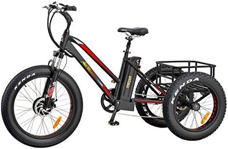 Addmotor Triciclo eléctrico 24 pulgadas Gran numático bicicleta ...