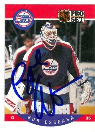 Autograph Warehouse 64713 Bob Essensa Autographed Hockey ...