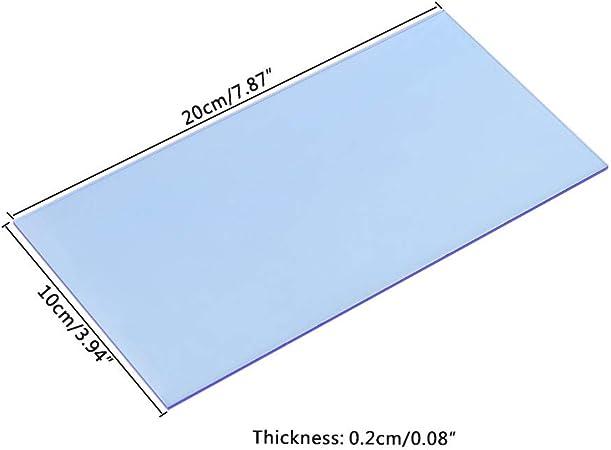 ruiruiNIE 10 /× 20 cm Plaque de plexiglas Plaque Acrylique color/ée Bricolage Jouet Accessoires mod/èle Rendre Transparent