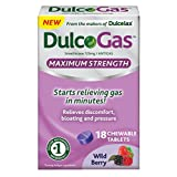 Dulcogas Maximum Strength Antigas Tablets, Wild Berry, 18 Count