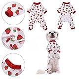 Pet Dog Clothing Puppy Shirt Pajamas Pattern Cotton Sleepwear Night Dress Cat Pajama Clothes Jumpsuit by Awtang M