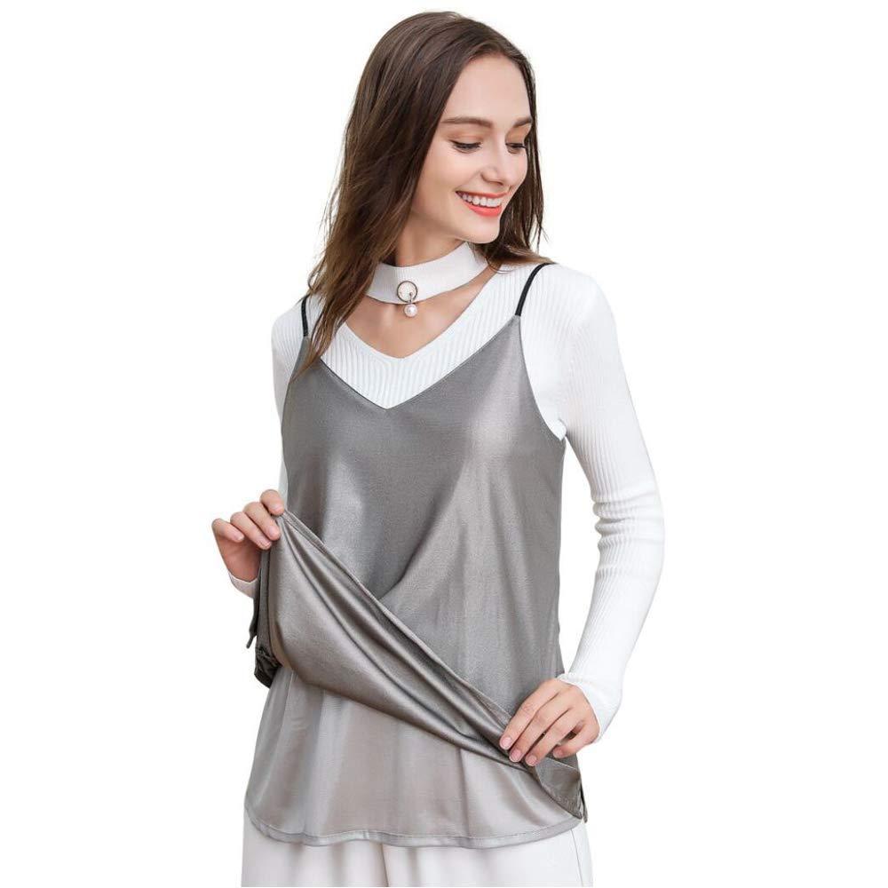 Pregnant Predection Shield Clothes,100% Silver Fiber Pregnancy Predection Phone Radiation Fetal Predection,Radiation Predection Strap VNeck Dress,Vneck,XL