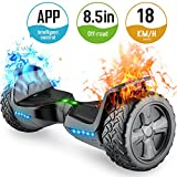TOMOLOO Off-Road Hoveroard and Self-Balancing Scooter with Bluetooth Speaker and Lights - 8.5 Hover Board with App UL2272 Certified for 265 lbs MAX Weight... ... ...