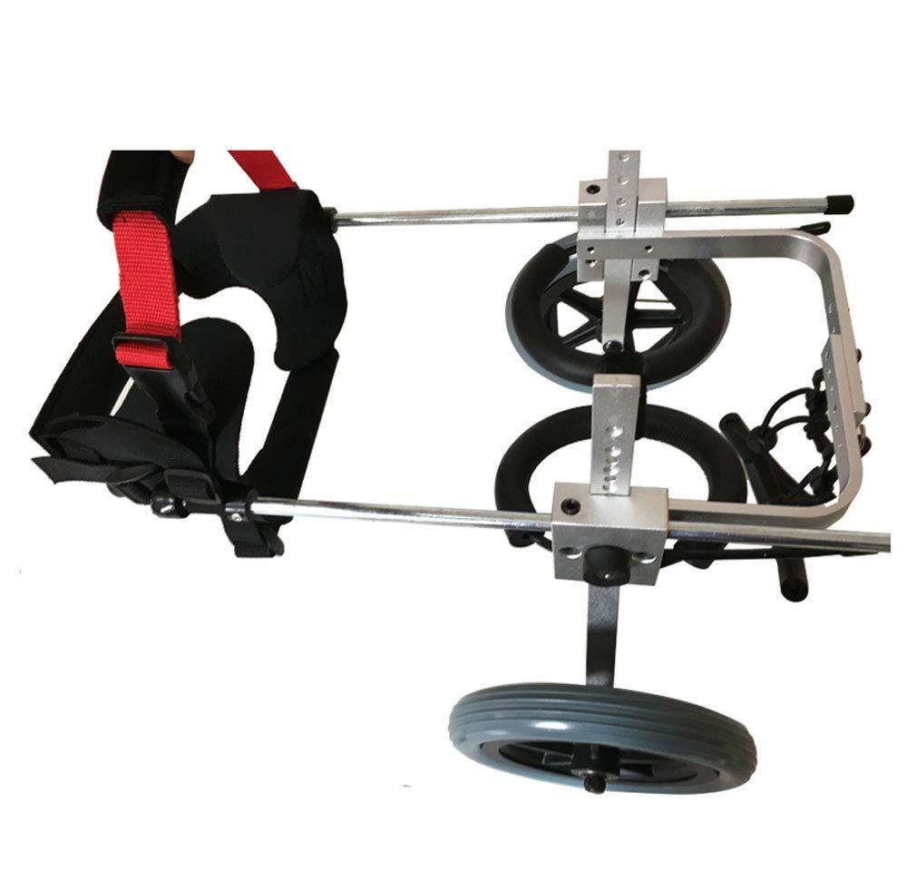 Silla de ruedas para mascotas, silla para perros, carro para perros, 1 kg (2.2 lbs), 25 kg (55 lbs), ajuste multidireccional, dos rondas, adecuado para ...