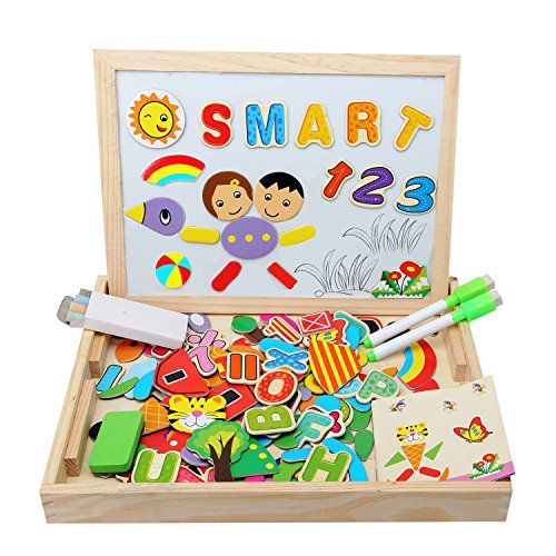 5725627702 Kolly lavagna magnetica con puzzle in legno double face - Giochi Puzzle