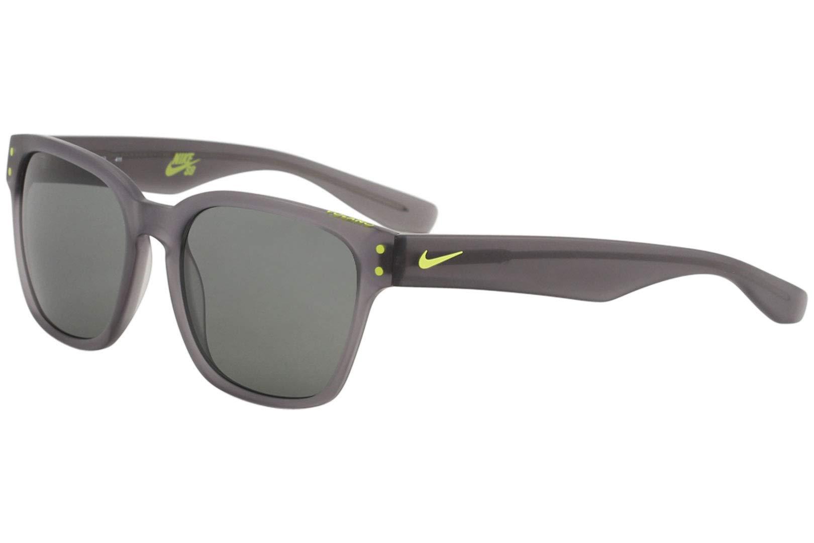 Nike EV0877-003 Volano Sunglasses (One Size), Matte Crystal Grey/Cyber, Grey Lens