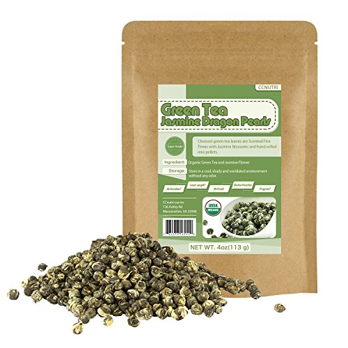 - Organic Jasmine Dragon Pearls Green Tea Loose Leaf 4oz