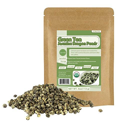 Organic Jasmine Dragon Pearls Green