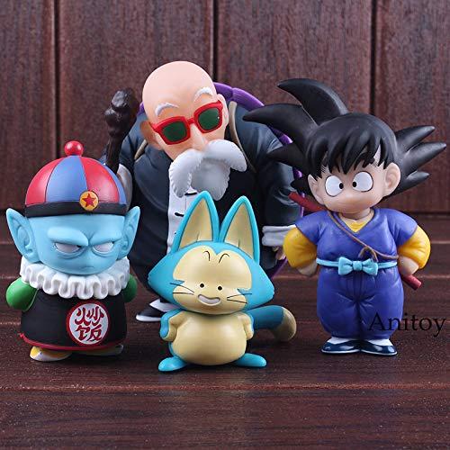 4pcs/Set 8-16cm (3.1-6.3 inch) Dragon Ball Figure / Son Goku Figure with OPP Bag (B) -