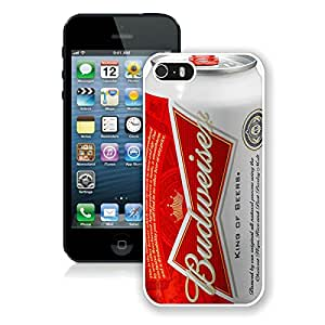 Beautiful And Durable Designed Case For iPhone 5S With Budweiser White Phone Case