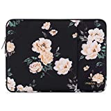 MOSISO Laptop Sleeve Compatible with 15 inch MacBook Pro Touch Bar A1990 A1707, ThinkPad X1 Yoga, 14 HP Acer Chromebook,2019 Surface Laptop 3 15,Polyester Vertical Tablet Bag with Pocket,Apricot Peony