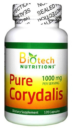 Biotech Nutritions Pure Corydalis Dietary Supplement 10:1 Extract 1000 mg 120 Count