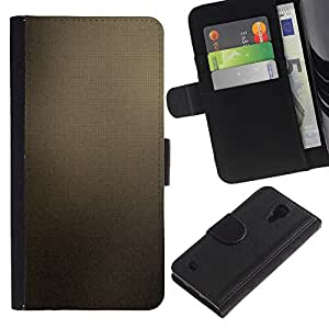 Protector de cuero de la PU de la cubierta del estilo de la carpeta del tirón BY RAYDREAMMM - Samsung Galaxy S4 IV I9500 - Marrón Azulejos