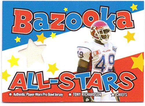 Tony Richardson 2004 Topps Bazooka All-Stars Game Worn Pro-Bowl Jersey #BAS-TR - Kansas City Chiefs