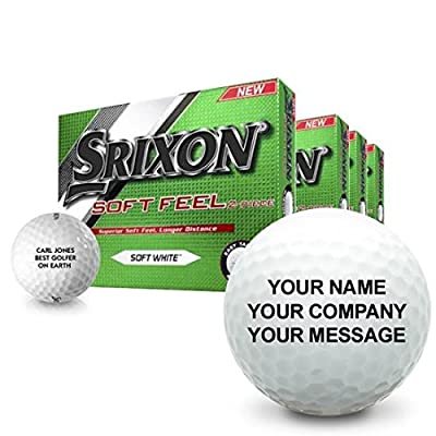 Srixon Soft Feel Personalized Golf Balls - Buy 3 DZ Get 1 DZ Free