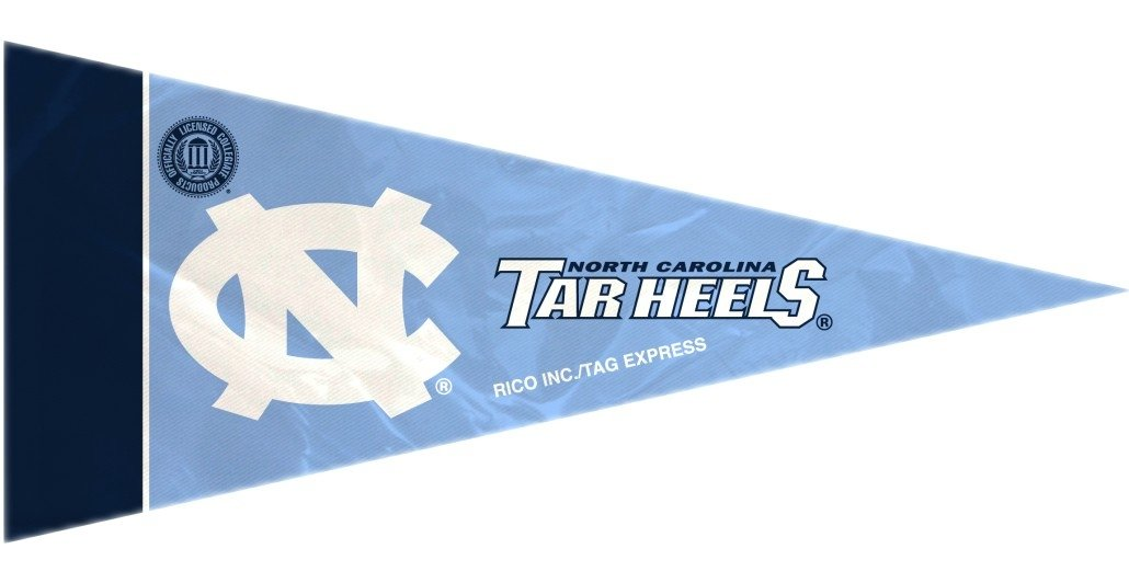 Multicolor Rico NCAA North Carolina 8 Pc Mini Pennant Pack Sports Fan Home Decor One Size