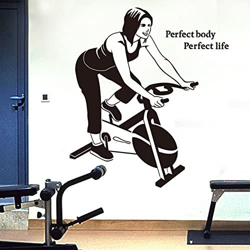Gimnasio mujer spinning muro decoración pegatinas autoadhesivas ...