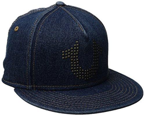 True Religion Men's Stud Horseshoe Cap, Indigo, One Size