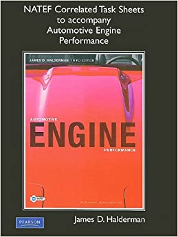 NATEF Correlated Task Sheets for Automotive Engine Performance