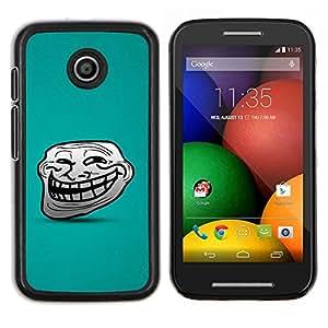 YiPhone /// Prima de resorte delgada de la cubierta del caso de Shell Armor - Big Smile Face Cartoon Dientes carácter cómico - Motorola Moto E
