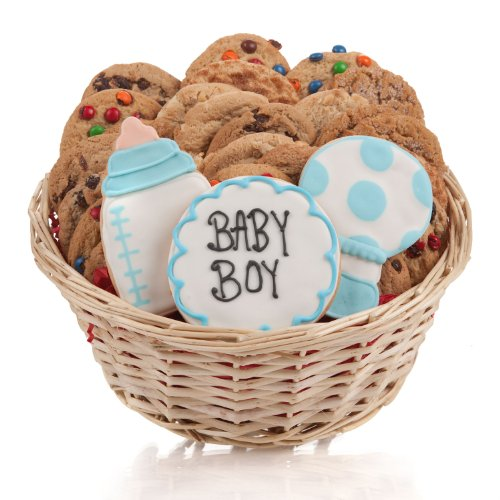 It's A Boy! Cookie Gift Basket- 24 Pc. ()