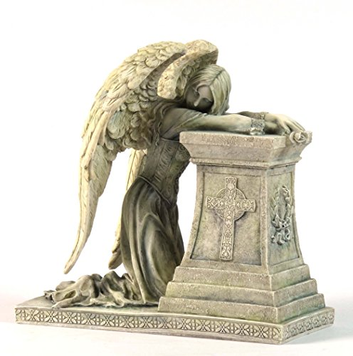 6.88 Inch Gothic Weeping Angel Decorative Statue Figurine, Faux (Faux Marble Statues)