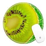 juicy juice fruitfuls - Luxlady Round Gaming Mousepad Slice kiwi floating in water IMAGE ID 3814829