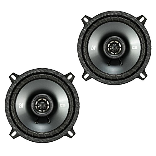 "Kicker CSC5 5.25"" 225W 2 Way 4 Ohm Coaxial Car Audio Speakers, Pair 