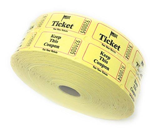 yellow double raffle ticket roll - 6