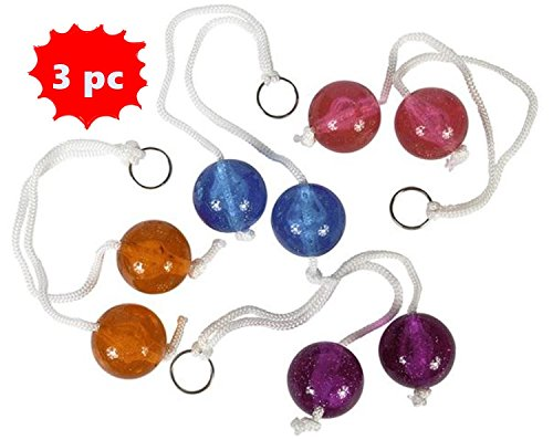 Set of 3 Super Clacker Balls - stocking stuffer toy clackers! by toyco