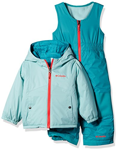 Columbia Little Girls' Double Flake Reversible Set, Spray, X-Small by Columbia