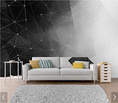 Blanco y negro abstracto geométrico murales fotográficos ...