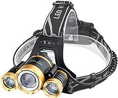 Helius LEDヘッドライト usb充電式 明るい 12000ルーメン センサー 電気出力 電量ディスプレイ可能 超高輝度 3 x XM-L T6 LED ライト ヘッドランプ 4モード ヘルメットライト 防水 防災 小型軽量 ズーム式...