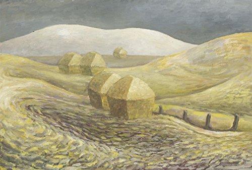 Sulis Fine Art Anthony Brown (1906-1987) - Signed 1953 Oil, Hay Stacks - Strickland Signed