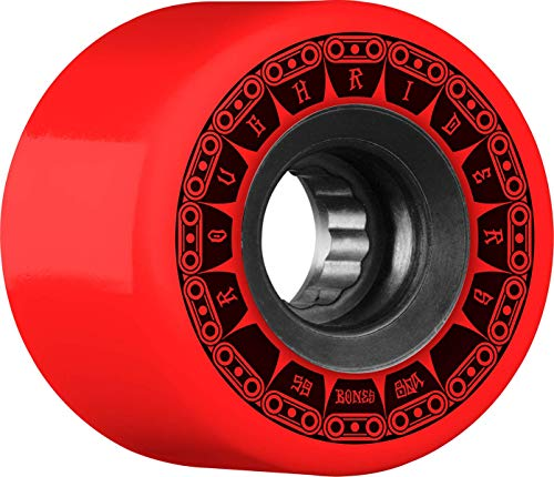 Bones Rough Riders Tank 59mm 80A - Red (Best Skateboard Wheels For Rough Roads)