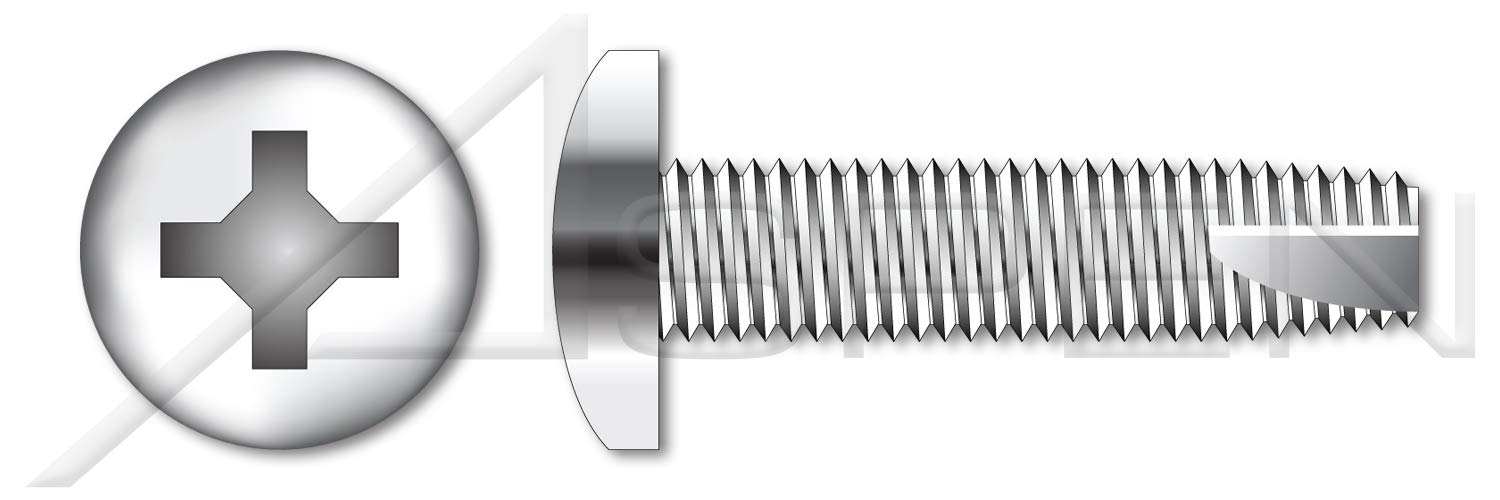 (600 pcs) #8-32 X 1/4'', Thread-Cutting Screws, Type''23'', Pan Phillips Drive, Full Thread, AISI 410 Stainless Steel