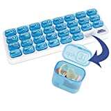 30 day pill container - North American Monthly Pill Organizer With 31-Day Pop Out Compartments