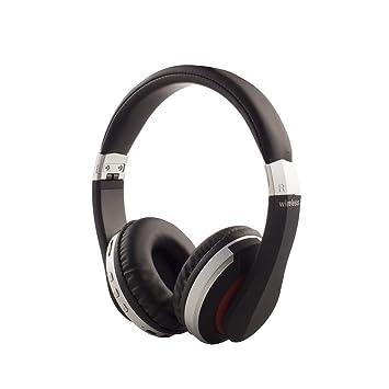 BANNAB Plegable Bluetooth 5,0 en la Oreja Auriculares Plug-in de la Tarjeta de reproducción de la función FM, Auriculares inalámbricos para iOS, ...