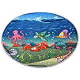 Round Kids Baby Play Mat Foldable Toy Storage Bag Anti-Slip Play Rugs for Kids Rooms