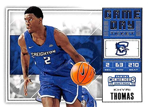 Khyri Thomas basketball card (Creighton Blue Jays) 2018 Panini Draft Game Day Ticket Rookie #16