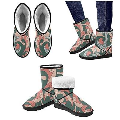 Artsadd Winter Boots Creative Anchor Sailor Spirit High Top Unisex Snow Boots M047