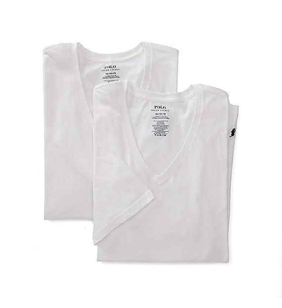 promo code 57537 e22ba Polo Ralph Lauren Mens 2-Pack Big V-Neck T-Shirt